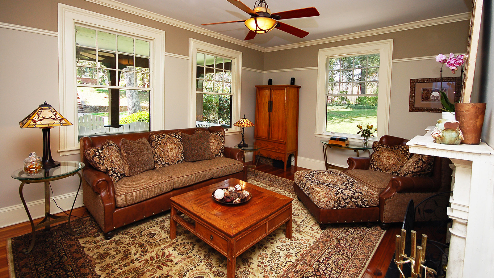 Front Parlor Sitting Area with Fireplace