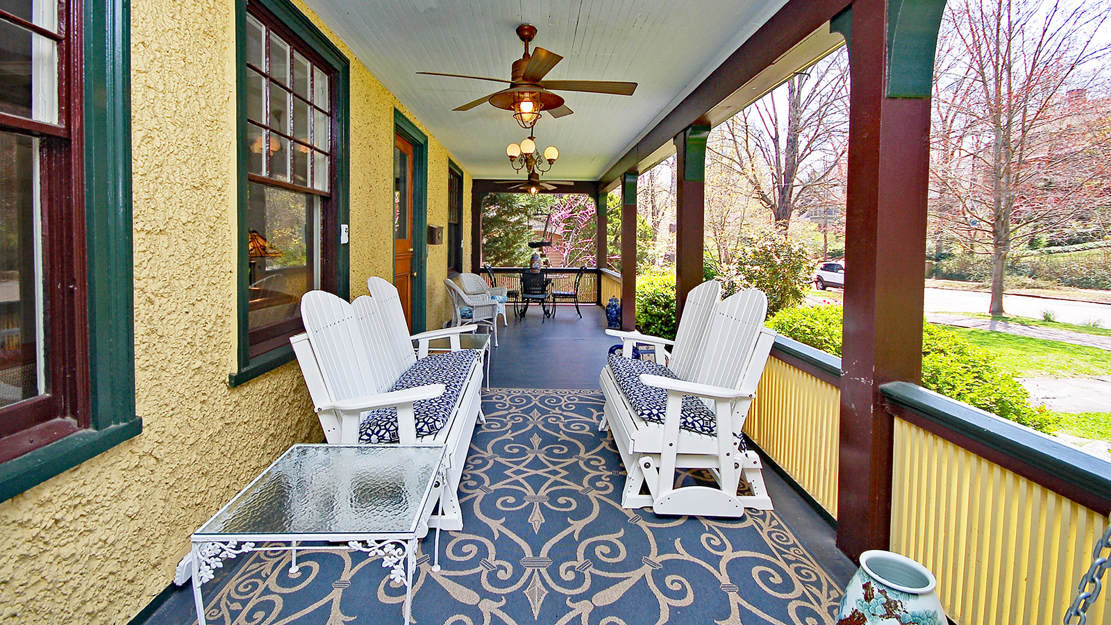 Asheville Bed & Breakfast with Rocking Chair Porch